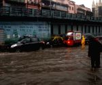 Rains leave Mumbai streets inundated