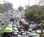 Heavy traffic jam at ITO in new Delhi