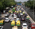 Heavy Traffic jam at ITO in New Delhi