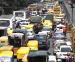 Heavy traffic on the busy Seshadri Road, as the Karnataka government eased restrictions for travel amid ongoing Coronavirus lockdown, in Bengaluru.