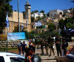 MIDEAST HEBRON ISRAEL PM VISIT