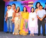 "Hema Malini meets the cast of  NDTV IMagine TV serial ""Seeta Aur Geeta"" to give them her blessings, in Mumbai."