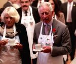 British Prince Charles and his wife Camila visit the Pasty Museum