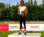 Hima sprints to 400m gold, 5th this month