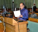 Himachal CM Jai Ram Thakur presenting the annual budget for the year 2021-22 in Vidhan Sabha, Shimla