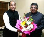 Himachal CM meets Ravi Shankar Prasad