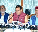 Himachal Ministers at a press conference