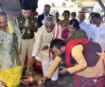 Bandaru Dattatraya visits Shri Naina Devi Ji Temple