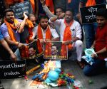 Hindu Sena activists burn Chinese products