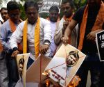Hindu Sena demonstration against Yakub Memon