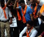 Hindu Sena protest against Rajnath Singh