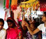Hindu women busy in shopping of ' Rakhi