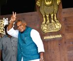 Jitan Ram Manjhi arrives at Bihar Legislative Assembly