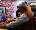 Jitan Ram Manjhi pay tributes to Ambedkar