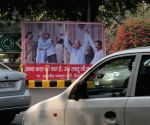 Hoardings of Lalu and Kejriwal