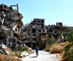 SYRIA HOMS DISPLACED SYRIAN FAMILY HOME