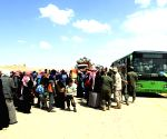 SYRIA HOMS RUKBAN CAMP RETURN