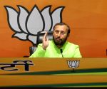 Hon'ble Union Minister, Prakash Javadekar will address a press conference at BJP HQ, DDU Marg, in New Delhi