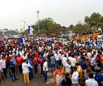 Huge response to Andhra govt-called Vizag steel plant protest (Ld)