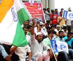 Demonstration against lynching of Kashmir police officer