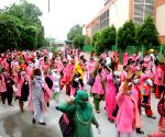 Hundreds of ASHA workers staged protest at Jantar Mantar