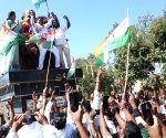 Hunsur (Karnataka): Congress candidate HP Manjunath celebrates