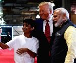 The boy who clicked a selfie with Modi and Trump