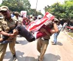 Left parties on fast in support of Telangana RTC employees