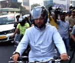 Went on motorcycle to show how peaceful Hyderabad is: Owaisi