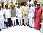 Andhra CM with outgoing MLC's