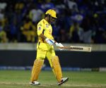 Off-colour Dhoni falls for second ball duck
