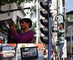 CCTV cameras being installed on the eve of Hanuman Jayanti