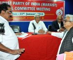 Prakash Karat addresses a press conference