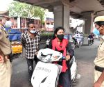 Hyderabad police  booked several motorists on charges of violating the COVID-19 lockdown rules and warned them against travelling unnecessarily