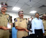 Hyderabad Police Commissioner during a press conference