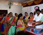 City Mayor distributes sarees ahead of Bathukamma celebrations