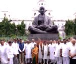 Kailash Satyarthi during his visit to the Telangana Legislative Assembly