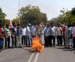Osmania University student's demonstration
