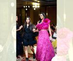 Sindhu walks ramp for designer Shriya Bhupal