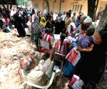 People queue-up to collect Aasara pension