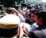 TDP legislators stopped from entering Telangana assembly