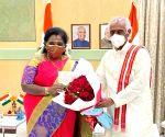 Telangana Governor Sundera Rajan & Union Minister Kishan Reddy  greeted Governor Himachal Pradesh Bandaru Datatiriya at Mark of 74 BirthDay celebration in Hyderabad