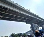 Car falls off Hyderabad flyover, crushes woman below