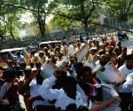 Congress minority cell's demonstration