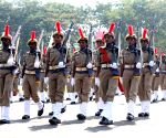 N Narasimha Reddy during Andhra Pradesh Police Academy passing out parade