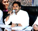 YS Jaganmohan Reddy addresses a press conference