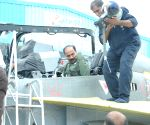 IAF chief flies Tejas trainer in Bengaluru