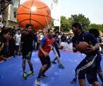 Satnam Singh Bhamara during a basketball match