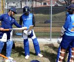 Wellington (New Zealand): Practice Session - MS Dhoni