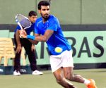 Asia/Oceania Davis Cup - India Vs Uzbekistan - Prajneesh